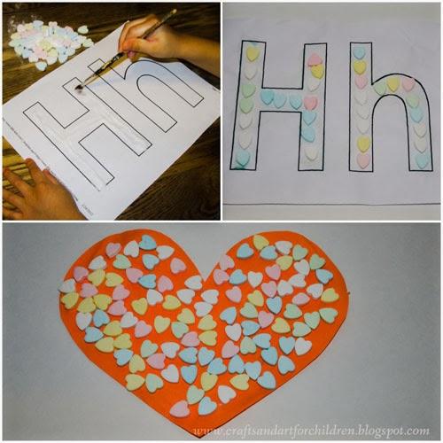 Letter Hh Heart Crafts #preschool #ece