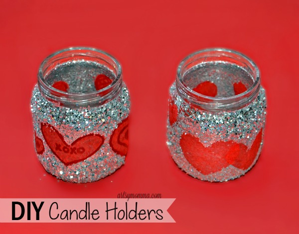 Upcycled Baby Food Jar Valentine's Day Candle Holder Craft