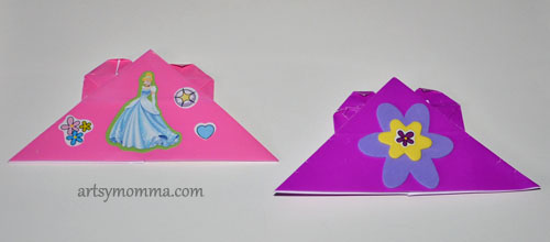 Origami Heart Corner Bookmark - Backside