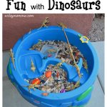 Dinosaur small world play and sensory activity