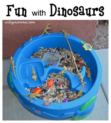 Dinosaur small world play and sensory activity