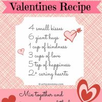 Sweet Recipe for Valentine's Day Poem {free printable}