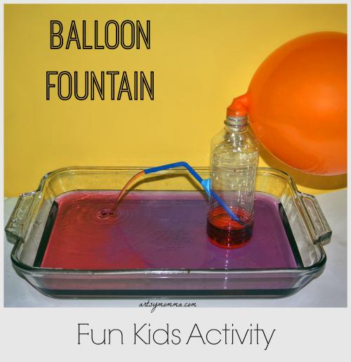 Make a Balloon Fountain using an empty water bottle