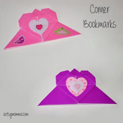 Origami Heart Corner Bookmark