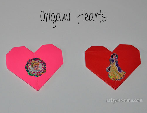 How to make small Origami Hearts