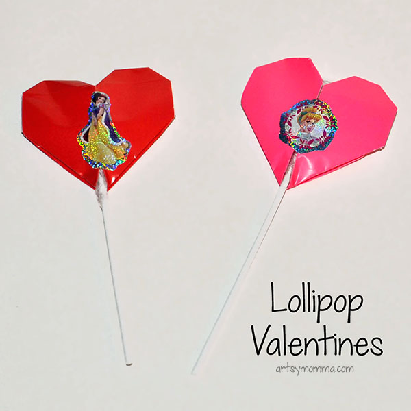 Origami Lollipop Toppers - Classroom Valentines