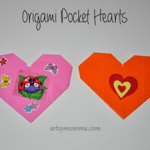 Valentine's Day Origami Pocket Hearts and Lollipop Wrappers