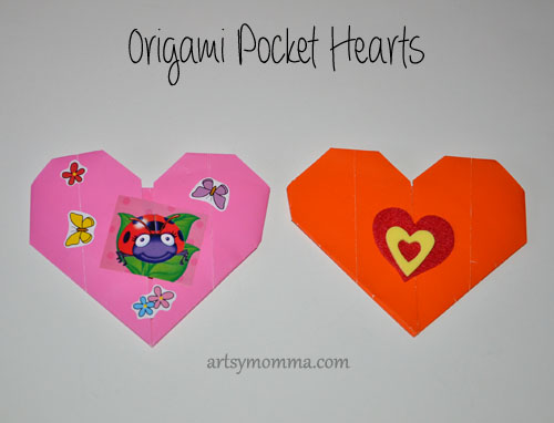 How to make Origami Pocket Hearts