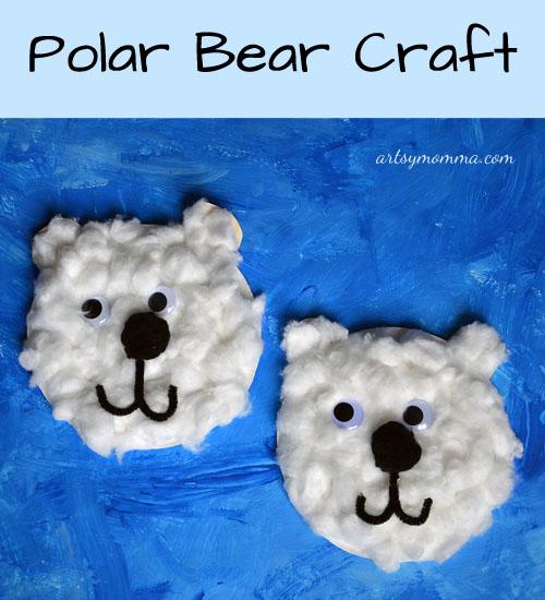 paper plate polar bear craft artsy momma
