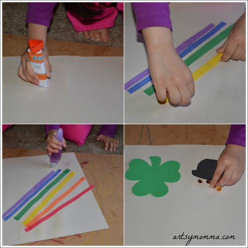St Patrick's Day Fine Motor Craft for Preschoolers & Kindergartners