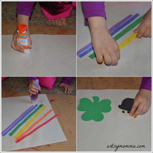 St Patrick's Day Fine Motor Craft for Preschoolers & Kindergartners