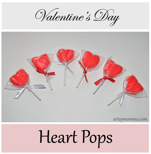 Easy to make Valentine's Day Heart Pops for Kids