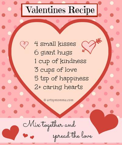 Sweet Recipe for Valentine's Day Poem {free printable} - Artsy Momma