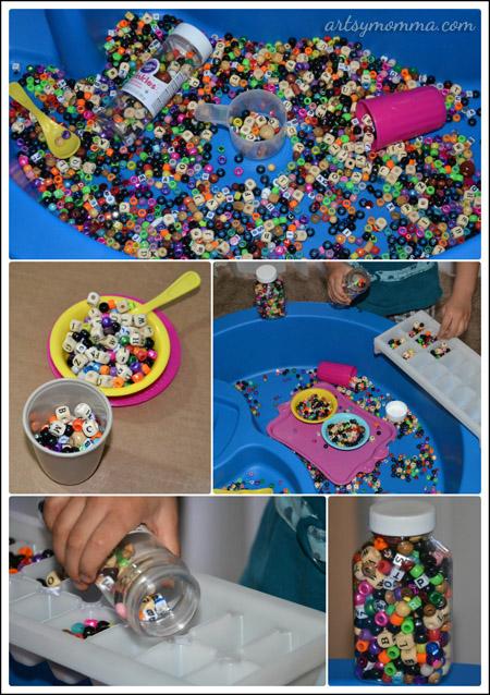 Bead Sensory Play Bin for Kids