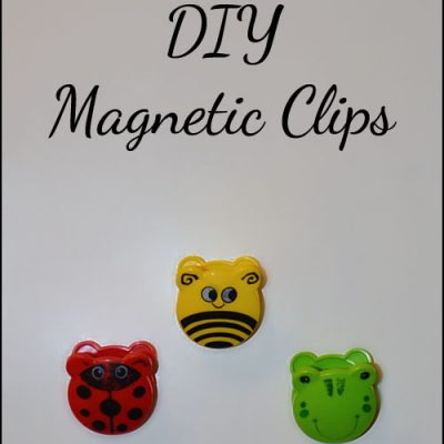 DIY Magnetic Clips – Frog, Ladybug, and Bee