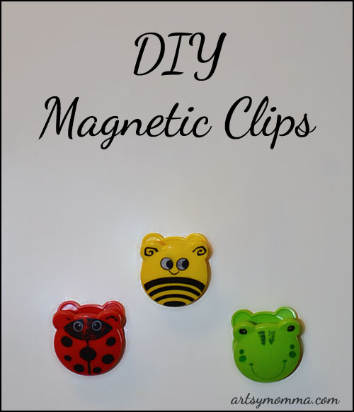 DIY Magnetic Clips - Frog, Ladybug, & Bee