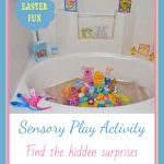 Fun with Easter Eggs! {Sensory Play Activity and egg decorating}
