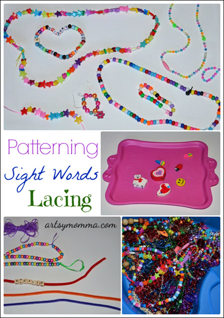 Learning & Playing with a Bead Sensory Bin