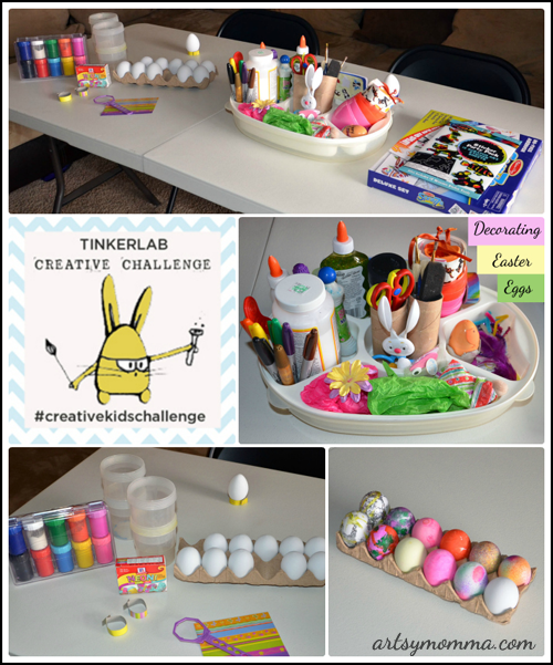 Tinkerlab Creative Kids Challenge: designing and decorating with Easter eggs