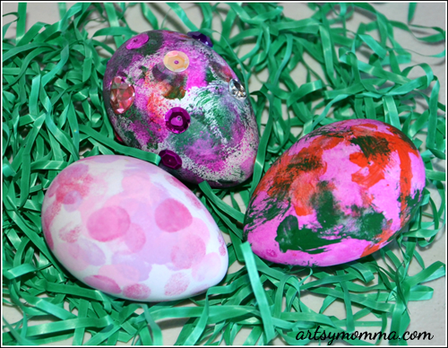 Decorating Easter Eggs with Younger Kids