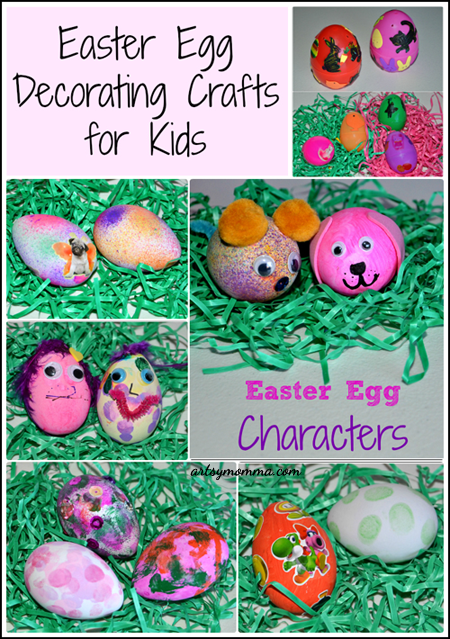 Easter Crafts for Kids: So many ways to decorate eggs!