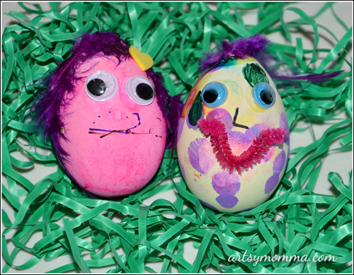 Kids Crafts: Easter Egg Characters