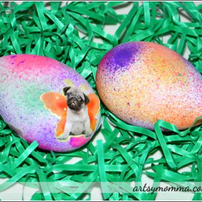 Make Pretty Speckled Easter Eggs (Kids Craft)