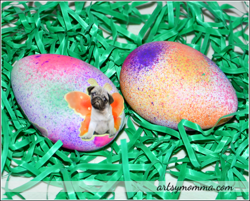 Make Pretty Speckled Easter Eggs (Kids Craft)