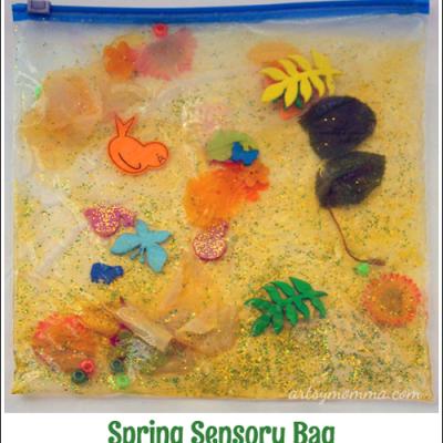 Spring Sensory Bag Play