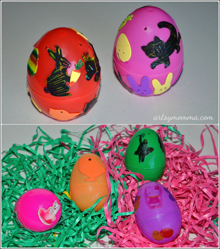 Use Stickers & Temporary Tattoos to Decorate Easter Eggs