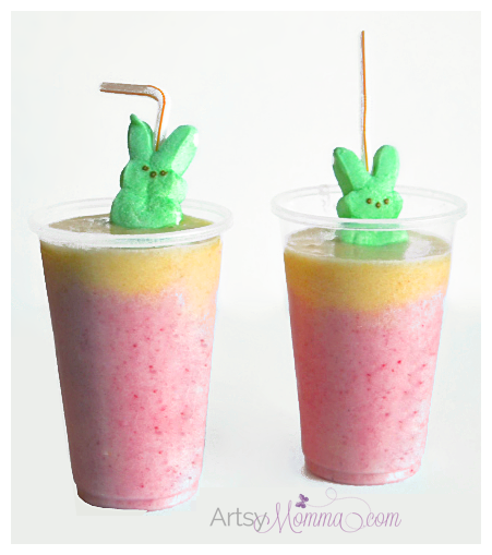Two-toned Easter Smoothie for Kids