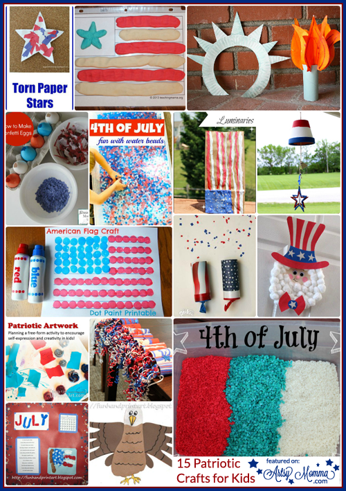Day Memorial Patriotic Crafts Kids