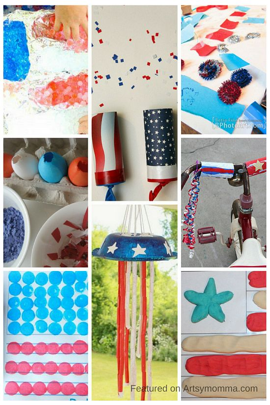 Patriotic Crafts for Kids {Memorial Day, 4th of July}