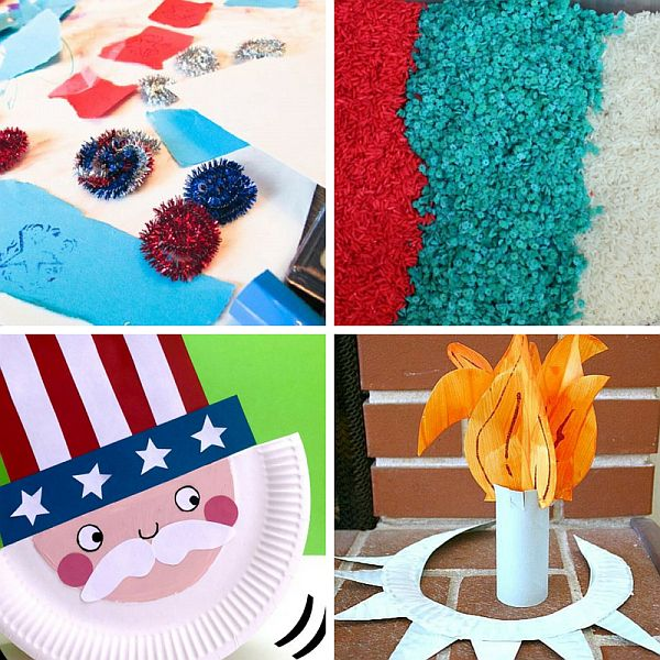15 Patriotic Crafts for Kids to Make - great for Memorial Day and July 4th