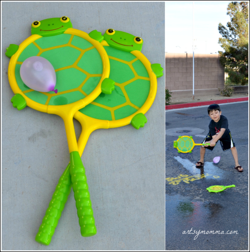 Have fun this summer playing Water Balloon Tennis!