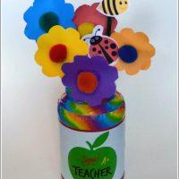 Teacher Appreciation Gift – Recycled Jar Craft
