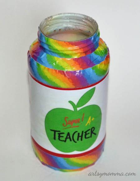 Teacher Appreciation Gift - Recycled Jar Craft
