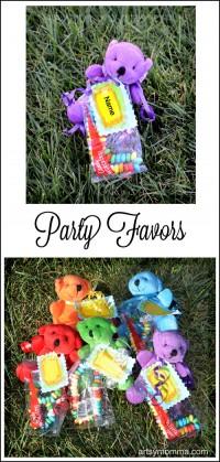 Cute Teddy Bear Party Favors