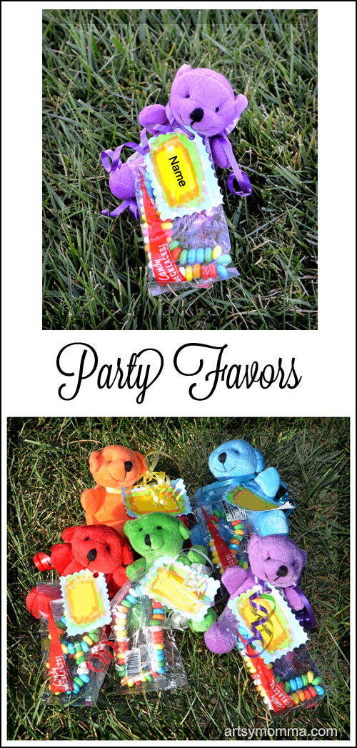 Make cute Teddy Bear Party Favors for Kids