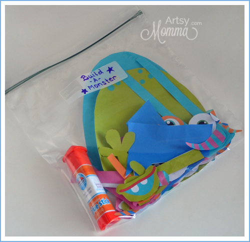 Build-a-Monster Bag for Crafting On-the-Go