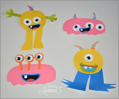 Build-A-Monster Glue Activity for Kids