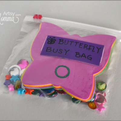 Butterfly Busy Bag for Preschoolers