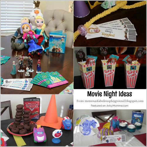 Disney Movie Nights + free printable tickets