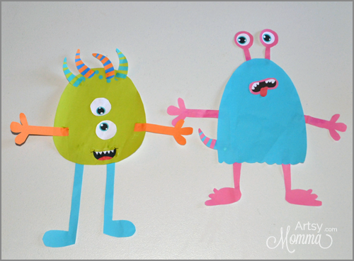 Fun Monster Craft for Kids - Cut & Paste Activity