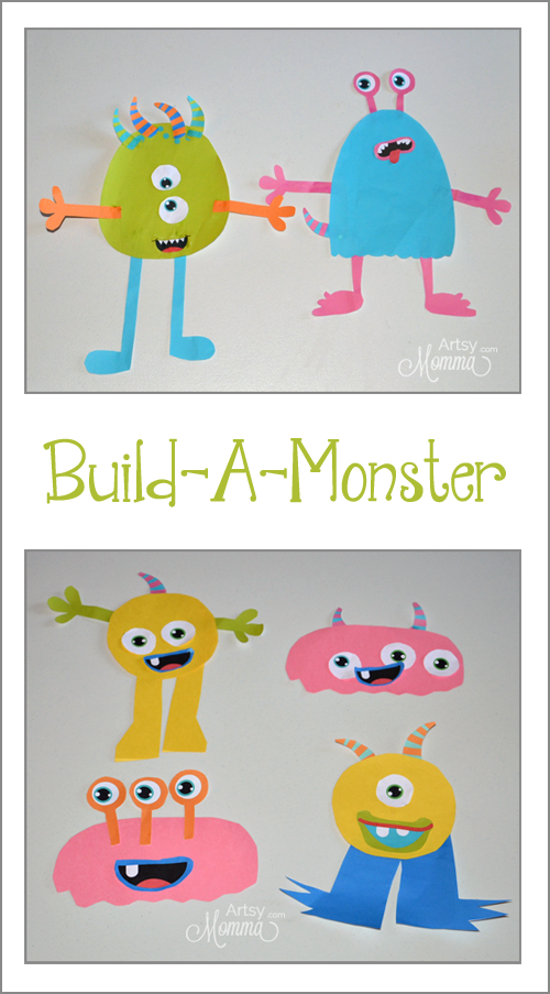 Kids Monster Craft - Cut & Paste Activity