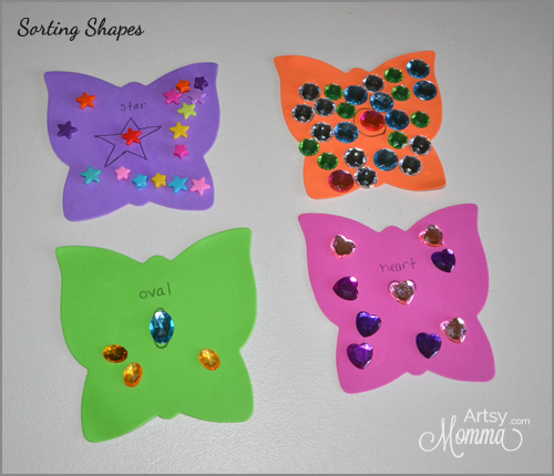 Sorting Shapes Activity for Preschoolers