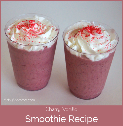 Cherry vanilla smoothie for kids