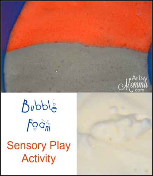 Bubbly Soap Foam Sensory Activity for Kids