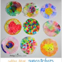 Coffee Filter Suncatchers in Fun Shapes!