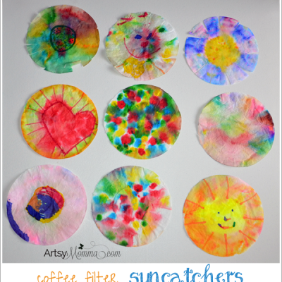Coffee Filter Suncatchers in Fun Shapes!